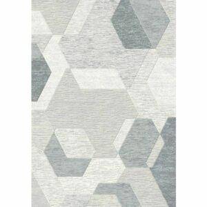 vloerkleed vijfhoek in het grijs