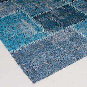 patchwork vloerkleed blauw