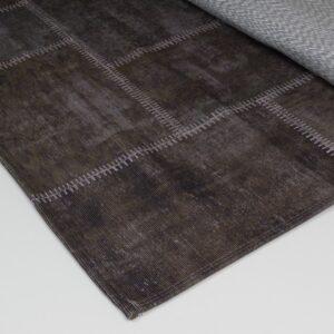 patchwork vloerkleed bruin