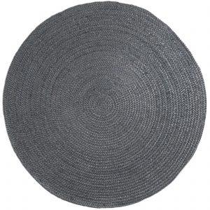 Vloerkleed jute rond antra-grey