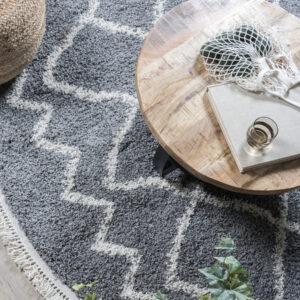 vloerkleed marrakesh grijs rond