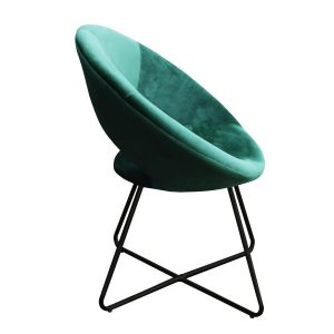 Kick collection fauteuil velvet groen