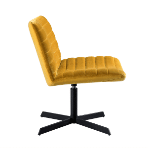 Kick collection fauteuil orea velvet geel