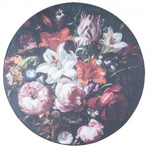 Bloemen vloerkleed mason rond