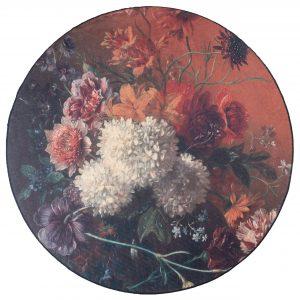 Bloemen vloerkleed mira rond