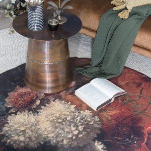 Bloemen vloerkleed remy rond